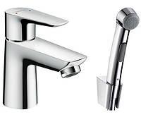 Однорычажный смеситель для биде с гигиеническим душем Hansgrohe Talis E 71729000 (24459)