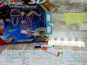 3D LED Доска для рисования Magic drawing board EL 623 3D YM 124