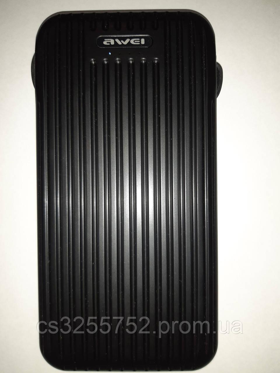 Батарея мобильная Power Bank Awei P80k 10000mAh со встроенными кабелями зарядки