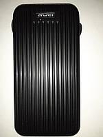 Батарея мобильная Power Bank Awei P80k 10000mAh со встроенными кабелями зарядки, фото 1