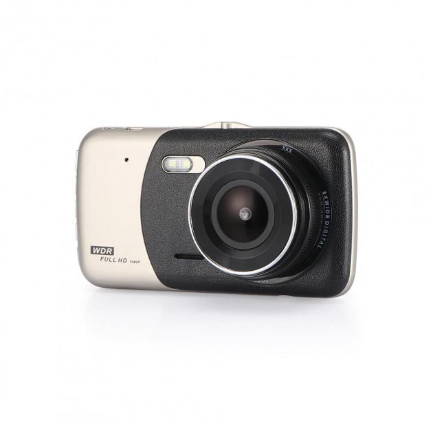 Автомобильный видеорегистратор DVR T652 Full HD 1080p с камерой заднего вида