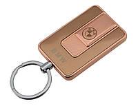 Спиральная электрическая USB зажигалка UKC 811 BMW Gold