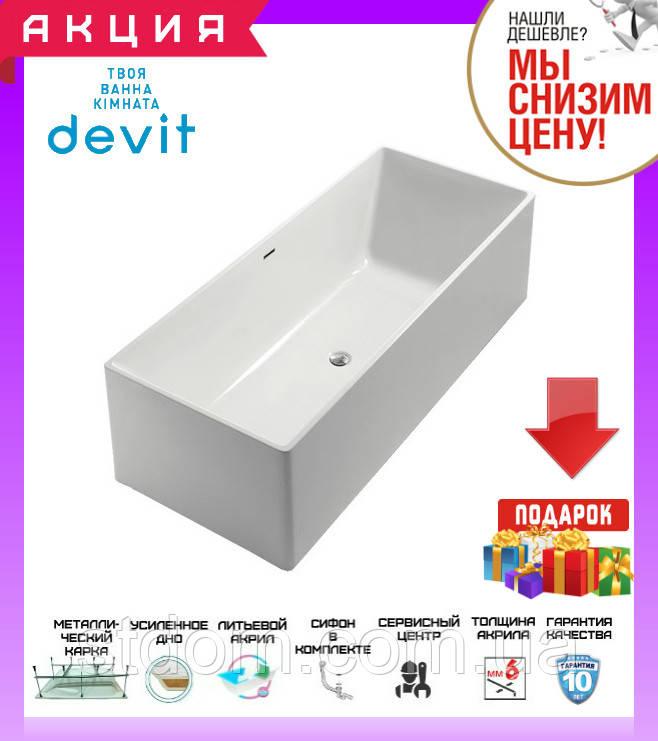 Отдельностоящая акриловая ванна 180x75 см Devit Vintage 18075122