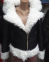 Куртка женская зимняя с искусственным мехом  мкр1937, фото 1