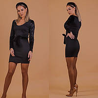 Платье со вставками бархата, фото 1