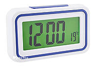 Будильник говорящие часы KENKO 9905 TR Белый/Темно-синий