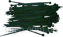 Ремінці затяжні 7.2х350 мм, чорні, 25 шт.