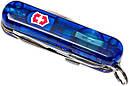 Нож складной, мультитул + LED Victorinox Midnite Manager (58мм, 10 функций), синий прозр 0.6366.Т2, фото 3