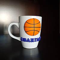 Сувенирная чашка в подарок тренеру спортсмену на день рождения