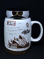 Керамическая чашка с термо крышкой