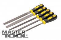MasterTool  Напильники по металлу 5 шт, 200 мм, плоский/круглый/полукруглый/трёхгранный/квадратный, Арт.: 06-0250