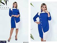 Стильное платье     (размеры 50-56) 0216-34, фото 1