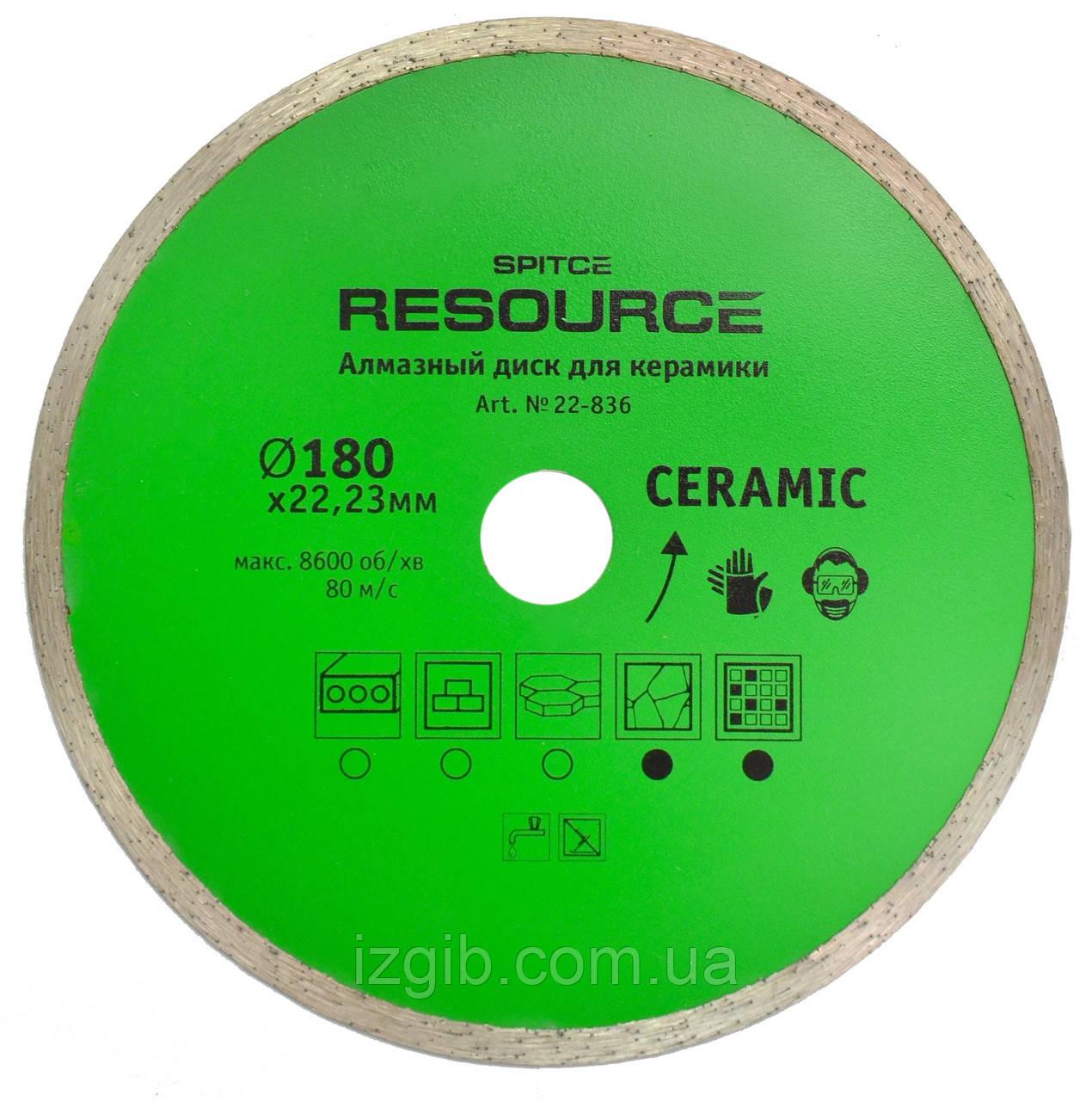 Алмазный диск для керамики, Resource 230 мм