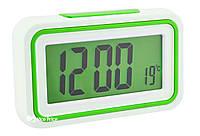 Будильник говорящие часы KENKO 9905 TR Белый/Салатовый
