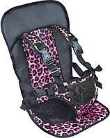 Детское бескаркасное автокресло VJT NY-26 Розовое (тигровое)