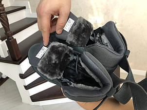 Высокие зимние кроссовки Puma,серые,на меху, фото 2