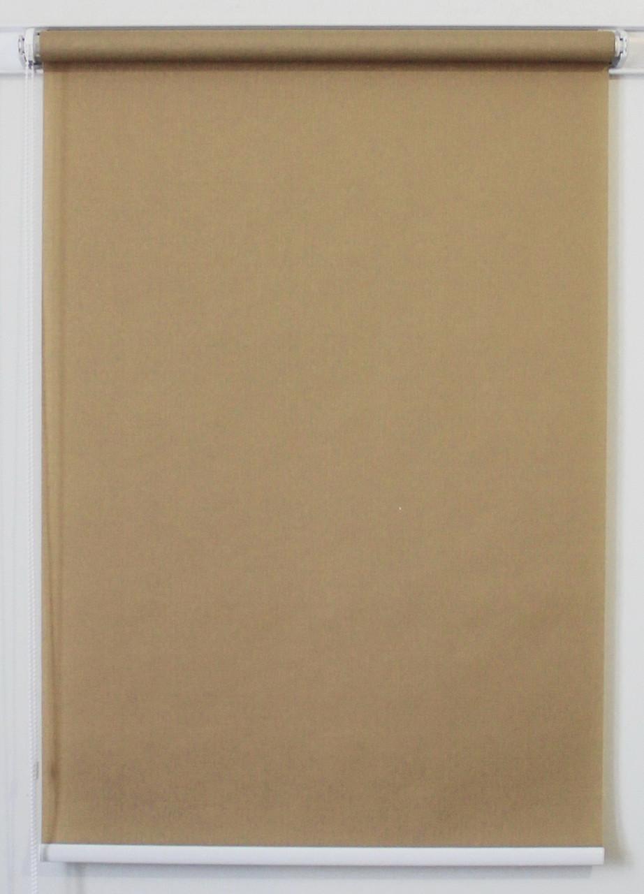 Рулонная штора  975*1500 Ткань Лён 881 Маккофе