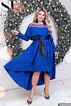 Платье  БАТАЛ нарядное в расцветках 48341, фото 2