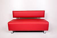 Диван для салона красоты, офиса, студии 150/55/70 экокожа Красный