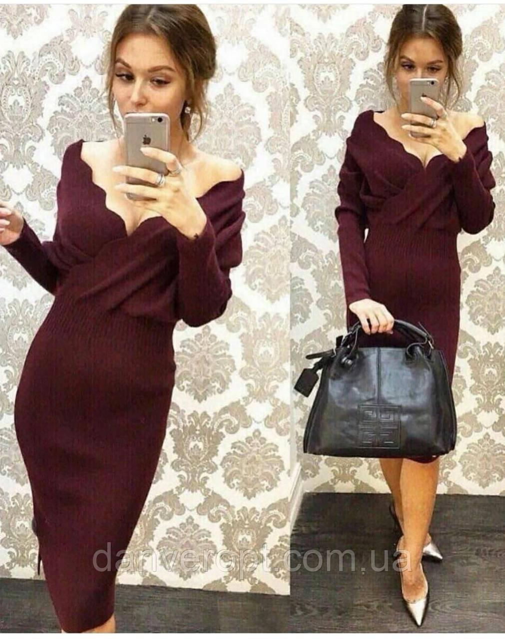 Платье женское стильное на запах размер универсальный 42-46 купить оптом со склада 7км Одесса