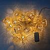 Гирлянда Колесо фортуны сетка, 20 led, золото, прозрачный провод, 2,1м., фото 2
