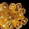 Гирлянда Колесо фортуны сетка, 20 led, золото, прозрачный провод, 2,1м., фото 3