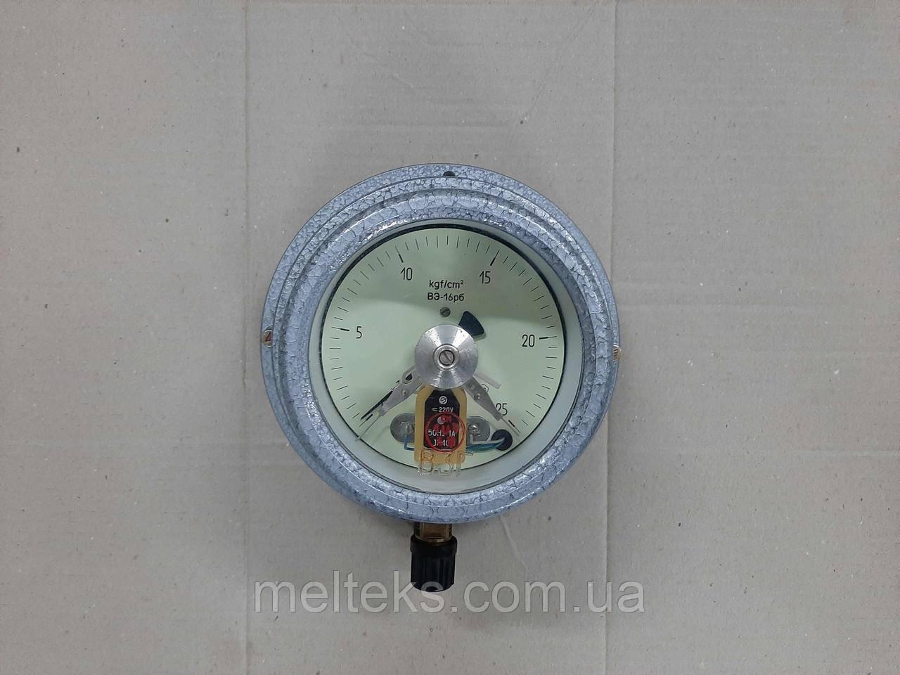 Манометр ВЭ-16рб 25 атм для газовых заправок с Поверкой