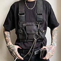 Чоловіча нагрудна сумка, желетка, броніки chest rig