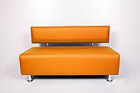Диван для салона красоты, офиса, студии 180/55/70 экокожа Оранжевый