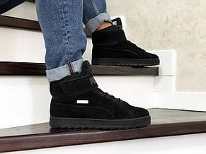 Высокие зимние кроссовки Puma,черные,на меху 43р, фото 2