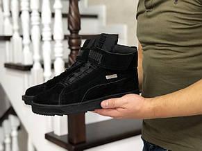 Высокие зимние кроссовки Puma,черные,на меху 43р, фото 3