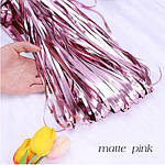 Шторка занавес из фольги розовый сатин 1х2 метра
