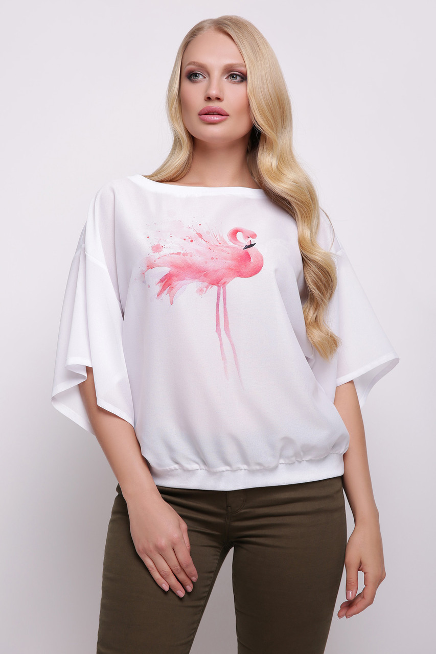GLEM Фламинго блуза Мартина-БП к/р