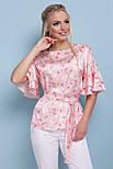 GLEM Цветы блуза Мирабель к/р, фото 3