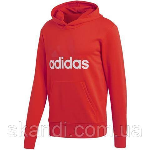 Толстовка мужская adidas Essentials Lin P/O FT красная CW3860