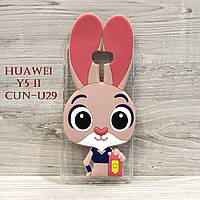 Чехол Зверополис для Huawei Y5 II (CUN-U29) Розовый
