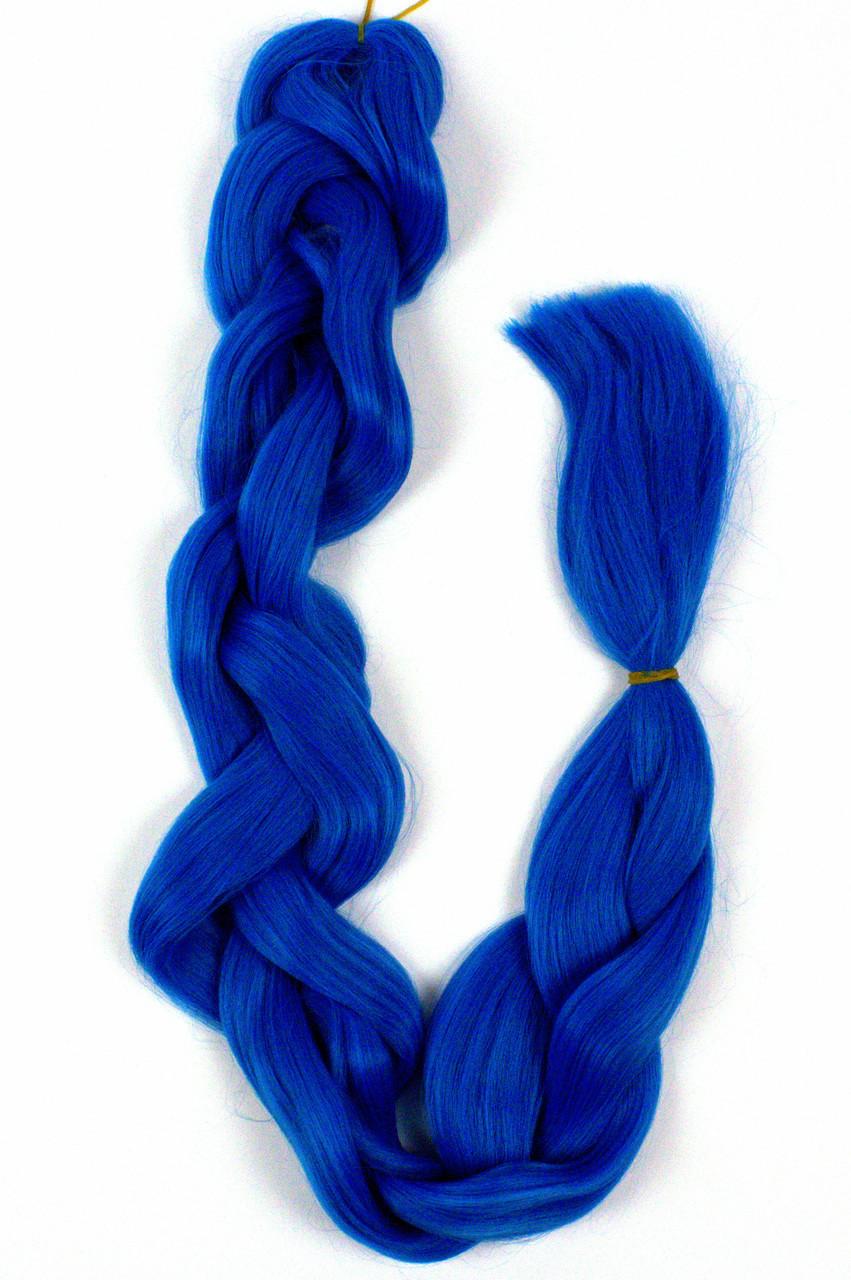 Канекалон гладкий шелк 100 см сине-фиолетовый