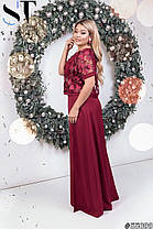 Сукня + топ БАТАЛ в кольорах 48339, фото 2