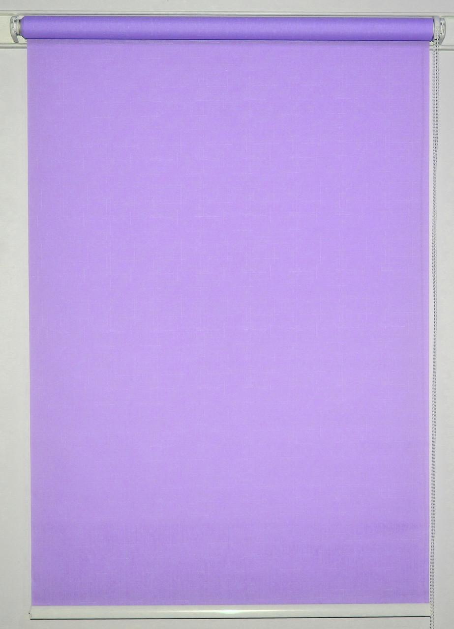Рулонная штора 625*1500 Ткань Лён 7438 Сирень