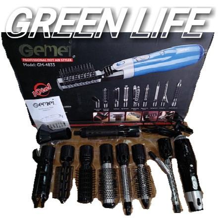 Воздушный стайлер, фен для волос (10 в 1) Gemei