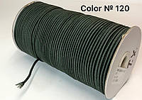 Резинка шляпная 3мм круглая Темный хаки круглая 100м