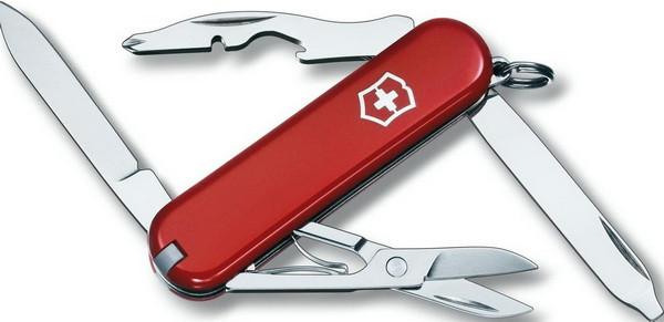 Нож складной, мультитул Victorinox Rambler (58мм, 10 функций), красный 0.6363
