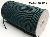 Резинка шляпная 3мм Темно зеленый круглая 100м