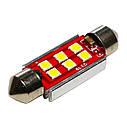 Автолампа диодная SJ-3030-6SMD-CANBUS 41mm, 1 шт, C5W, C10W, цвет свечения белый, фото 2
