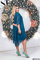 Сукня БАТАЛ пайетка з накидкою в кольорах 48408, фото 3