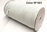 Резинка шляпная 3мм Белый круглая 100м