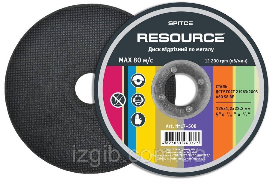 Диск отрезной по металлу Resource 150х1, 2х22 мм