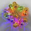 Гирлянда Золотая Сфера, 20 led, размер фигурки: 2.5x2.5, мульти, прозрачный провод, 2,1м., фото 4