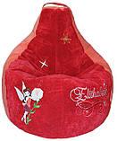 Бескаркасное Кресло-мешок груша пуф детский Феи, фото 3