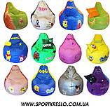 Бескаркасное Кресло-мешок груша пуф детский Феи, фото 10